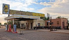 Dry Creek Station - Newberry Springs, California, Abandoned Gas Station in Mojave Desert