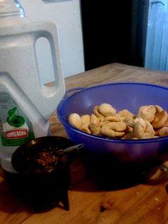 Bizcochos con grasa (receta con leche)