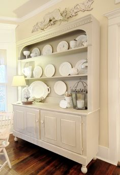 farmhouse kitchen hutch | take a seat | pinterest | white dishes