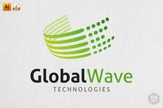 Ad: Global Wave Technology Logo Template by WebCraft on Creative Market. - Ad: Global Wave Technology Logo Template by WebCraft on Creative Market. A great logo suitable for - Business Brochure, Business Card Logo, Technology Magazines, Technology Apple, Technology Gifts, Technology Hacks, Teaching Technology, Computer Technology, Web Company