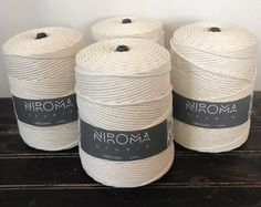 BULK 6 mm: 4 spools of 6 mm Thick Cotton string, macrame cord