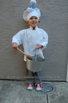 Coolest Disney Ratatouille Costume with Chef Linguini and Skinner... This website is the Pinterest of Halloween costumes for kids
