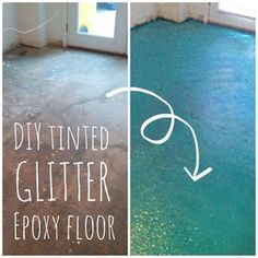 Projects to Try DIY Turquoise Glitter Epoxy Floor Epoxy Floor Diy, Garage Floor Epoxy, Diy Epoxy, Basement Flooring, Diy Flooring, Kitchen Flooring, Basement Bathroom, Flooring Ideas, Bathroom Ideas