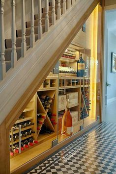 I've got stairs....I like wine......now I just need to learn carpentry!