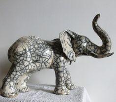 éléphant en raku