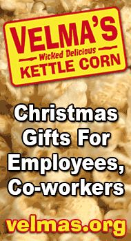 http://velmas.org - Christmas gift ideas for employees and co-workers. Kettle corn makes a delicious Christmas gifts for employees or co-workers. $20 #unique #good #best #great #online #inexpensive #cheap #popcorn