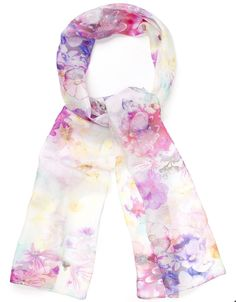 Ethereal Bloom Silk Scarf