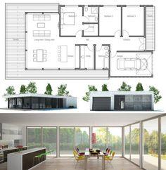 Modern Contemporary Home Design, Floor Plan from ConceptHome.com