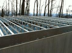 Steel joist sytem for suspended concrete slab