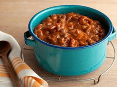 Southern Baked Beans Recipe : Paula Deen : Food Network-- 325 for two hours (for a thicker sauce) and add tablespoons of Worcestershire Sauce Southern Baked Beans, Best Baked Beans, Baked Bean Recipes, Beans Recipes, Dutch Oven Recipes, Side Dish Recipes, Testosterone Boosting Foods, Increase Testosterone, All Star