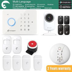 S3B  Multi-Language Wireless & Wired GSM/SMS  Intruder Burglar Touch Keypad as same as Chuango G5 ALARM SYSTEM  #Affiliate