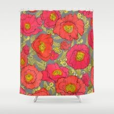 poppies liberty Shower Curtain
