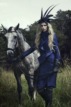 www.pegasebuzz.com/leblog   Horse in Fashion : Christina Kruse by Jeff Elstone for Stylezeitgeist, fall 2012