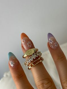 Simple Acrylic Nails, Best Acrylic Nails, Summer Acrylic Nails Designs, Nagellack Trends, Acylic Nails, Nail Jewelry, Jewellery, Trendy Jewelry, Funky Nails