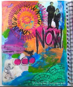 Art Journaling without Fear with Carolyn Dube Step by step on her blog