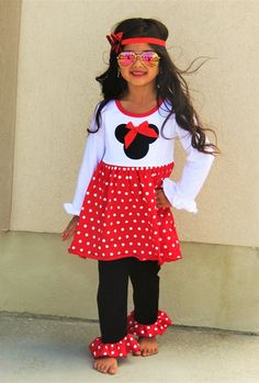 RED Madison Minnie Polka Dot Boutique Set #boutique-outfits #new #perfect-sets #spring-line