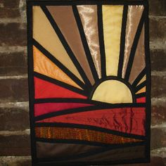 """Stained Glass Wall Art """"Sunset"""". $45.00, via Etsy."""