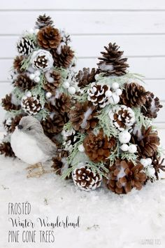 Frosted-Winter-Wonderland-Pinecone-Trees