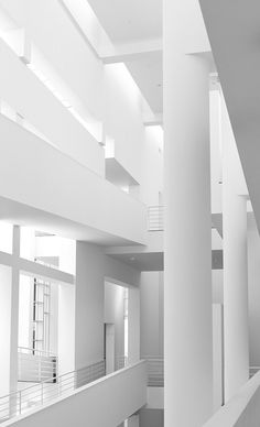 #architecture #design #interiors #white #light - Museu D'Art Contemporani de Barcelona