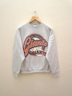 abe45d298 Vintage San Francisco Giants Baseball Team Sweatshirt Pull Over Sweater  Size L