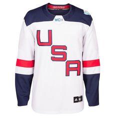 Men s USA Hockey adidas White 2016 World Cup of Hockey Premier Blank Jersey f9061f775