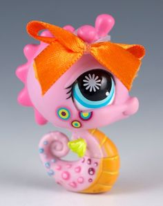 Littlest Pet Shop Seahorse #1011 Pink With Blue Eyes #Hasbro