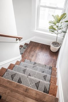 Add texture and a beautiful look to your stairs with a stair runner! How to Install a Stair Runner may seem complicated, but anyone can complete this DIY! Decor, Stair Decor, Home, Diy Stairs, House Inspiration, Sweet Home, Home And Living, Cozy House, Home Remodeling