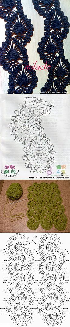 Crochet - bruges lace – HOW TO - loads of variations and photo tutorials Crochet Lace Edging, Crochet Motifs, Crochet Borders, Crochet Diagram, Crochet Chart, Thread Crochet, Crochet Trim, Irish Crochet, Crochet Doilies