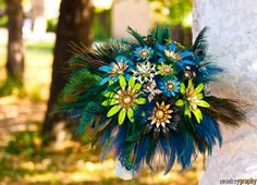 For my peacock-themed wedding