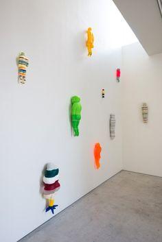 Kyotaro Hakamata's Colorfully Striped Sculptures