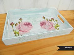 Shabby, Vintage Wood, Painting, Pink, Crafts, Boxes, Home Decor, Furniture, Tea Box