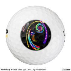 Abstract 5 Wilson Ultra 500 Distance Golf Ball Pack Of Golf Balls