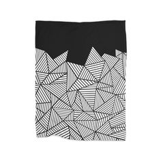 Geometric Black Blanket by Project M $29
