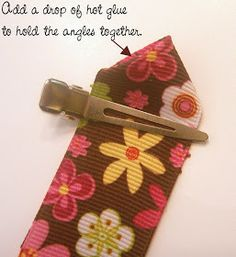 Fold the ribbon over itself While holding the angle fold the ribbon back over itself to create the petal end. Sew each petal together simila...