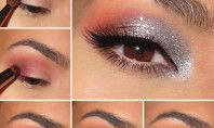 Grey And Peach: Eye Makeup Tutorial