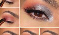 Grey And Peach: Eye Makeup Tutorial
