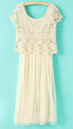 Crochet Lace Top Dress