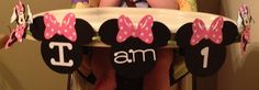 Minnie Mouse high chair banner for my sweet little nieces first birthday. My first cricut project.