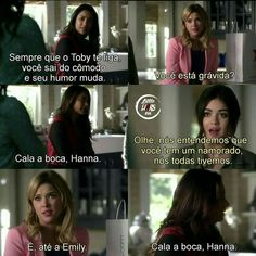 Cala a boca hanna! Hanna Marin, Hanna Pll, Pretty Little Liars Meme, Pretty Little Liers, Spencer Pll, Spencer Hastings, Pll Memes, Liar Game, Brenda Song