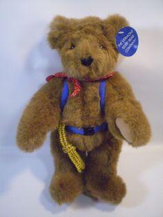 "Teddy Bear Plush Cub Rope Mountain Climbing Brown Stuffed Animal Backpack 13""  #na"