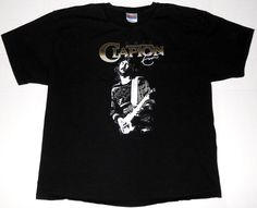 ERIC CLAPTON Men's Black Guitar T Shirt XL EXTRA LARGE Rock Band Concert Cream #Hanes #GraphicTee