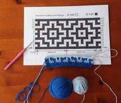 Debbie Bliss Welsh Blanket Pattern Only - Diy Crafts - maallure C2c Crochet, Manta Crochet, Crochet Diagram, Tapestry Crochet, Crochet Home, Crochet Gifts, Filet Crochet, Crochet Stitches Patterns, Stitch Patterns
