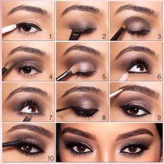 Get The Kim Kardashian Style Smokey Eyes Look http://www.thelosangelesfashion.com/2014/08/11/kim-kardashian-style-smokey-eyes-look/ #Beauty #Makeup