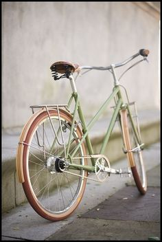 648e0ba946 Saved by Sophie Riano (sophie) on Designspiration Discover more Green  Bicycle Brown Vintage Bike inspiration.