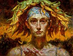expressionist | Sculptural Expressionist Paintings by Victor Wang | Art of Day