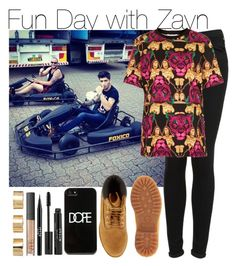 """""""Fun Day with Zayn"""" by elise-22 ❤ liked on Polyvore featuring Topshop, Illustrated People, Timberland, Dope, Stila, NARS Cosmetics and ASOS"""