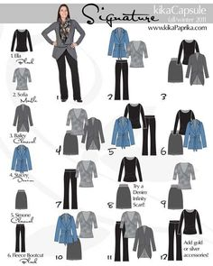 Wardrobe Capsule Retired Women | Found on mommakristi.com