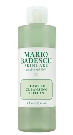Seaweed Cleansing Lotion-Mineral-rich Seaweed and naturally clarifying Witch Hazel come together to restore balance and address the concerns that come with combination skin. Oily areas will feel thoroughly cleansed and dehydrated areas nourished. If you feel like your skin has multiple personalities, this toner is for you!