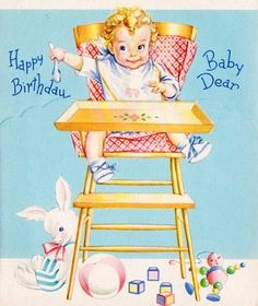 vintage birthday cards yellow and pink Happy Birthday Mother, Baby Birthday Card, Vintage Birthday Cards, Kids Birthday Cards, Birthday Greeting Cards, Birthday Greetings, Greeting Card Book, Vintage Greeting Cards, Vintage Postcards