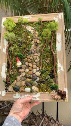Indoor Fairy Gardens, Fairy Garden Plants, Garden Terrarium, Miniature Fairy Gardens, Fairy Crafts, Garden Crafts, Garden Art, Garden Design, Fairy Tree Houses